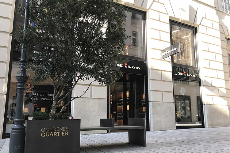 The Kiton store in Vienna's Golden Quarter.