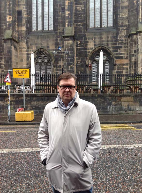 Dmitry Martynov, one of the electoral observers who travelled with the Russian delegation from ROIIP to Edinburgh.