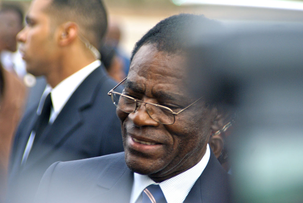 President of Equatorial Guinea, Teodoro Obiang Nguema Mbasogo, on the country's Independence Day celebration in 2010. (Photo: Embassy of Equatorial Guinea, Flickr)