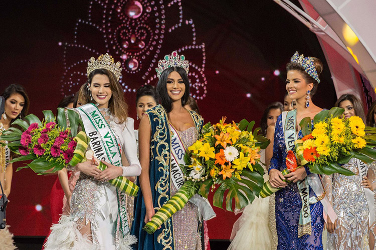 The 2017 Miss Venezuela pageant. (Photo: EFE news agency)
