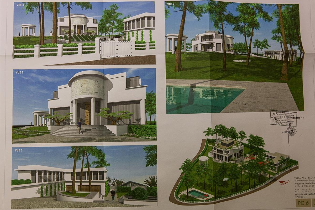 Plans for the reconstruction of Ocheretnys villa. (Olga Kravetz for Meduza)