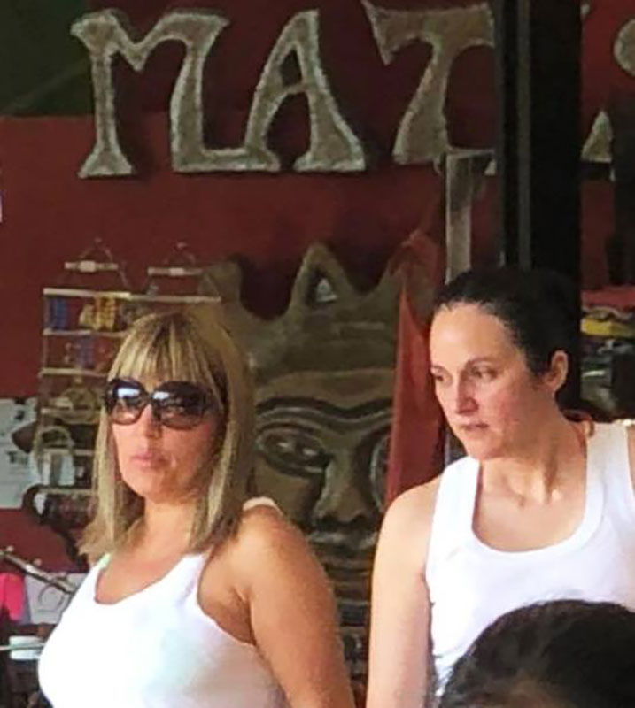 Udrea and Bica together in a Costa Rican restaurant. (Photo: Facebook)