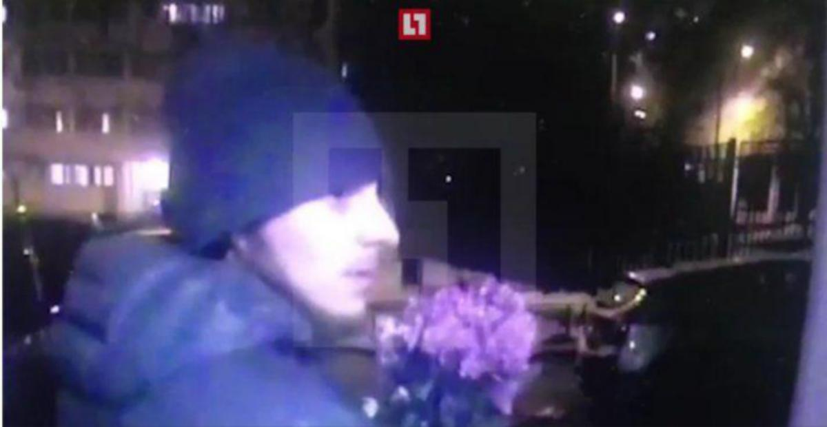 A still from a video showing Sergey Mokhov's attacker. (Photo: Life Novosti)