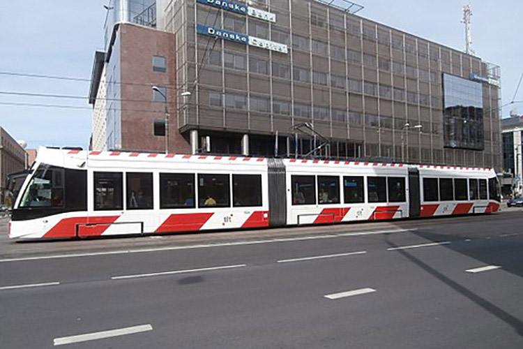 Tram 506 at Danske Bank Tallinn 31 August 2015