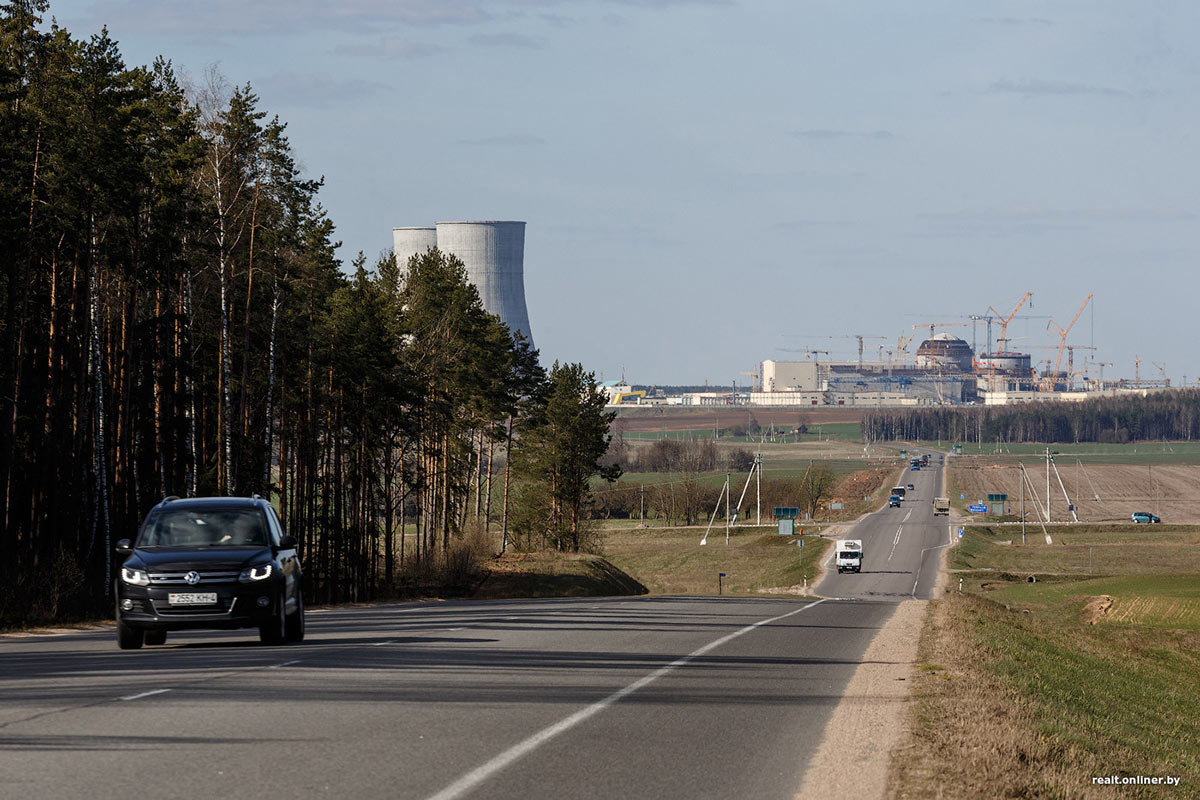 The nuclear power plant under construction in Belarus (Photo: onliner.by; Maxim Tarnalitskiy).