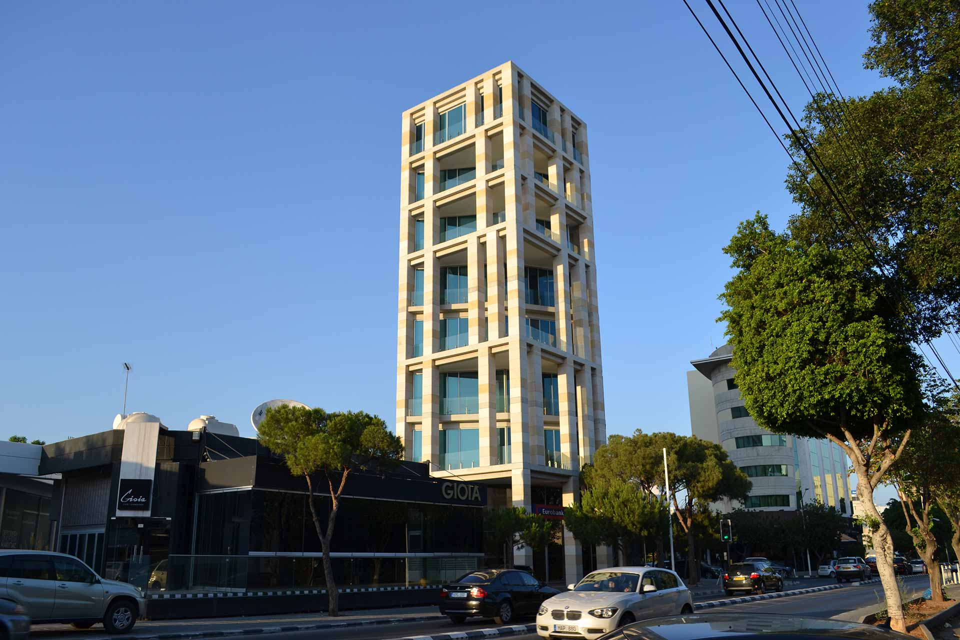 The Elias Neocleous & Co. tower in Limassol, Cyprus. Credit: Stelios Orphanides / Sara Farolfi