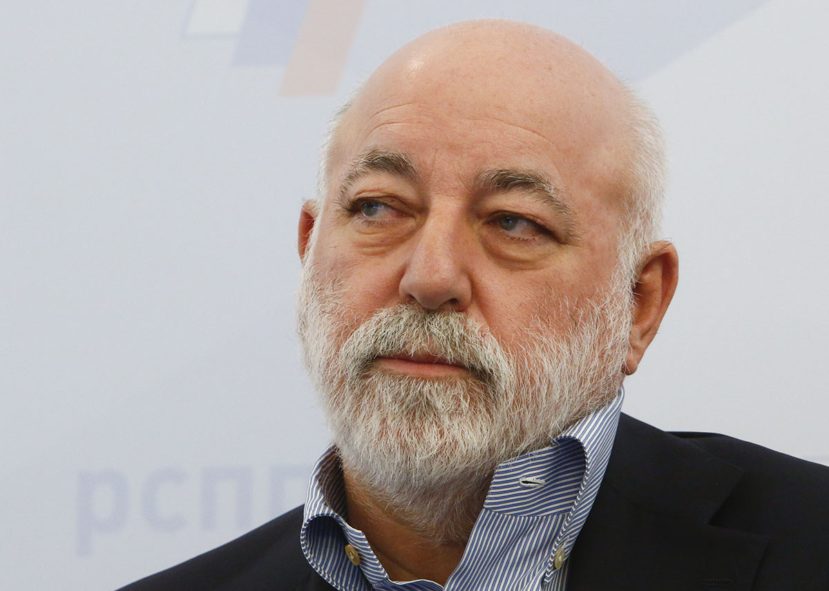 Chairman of the Board of Directors of Renova Group, Viktor Vekselberg attends a session during the Week of Russian Business, held by the Russian Union of Industrialists and Entrepreneurs (RSPP), in Moscow, Russia February 7, 2018. Photo (c): Reuters / Sergei Karpukhin