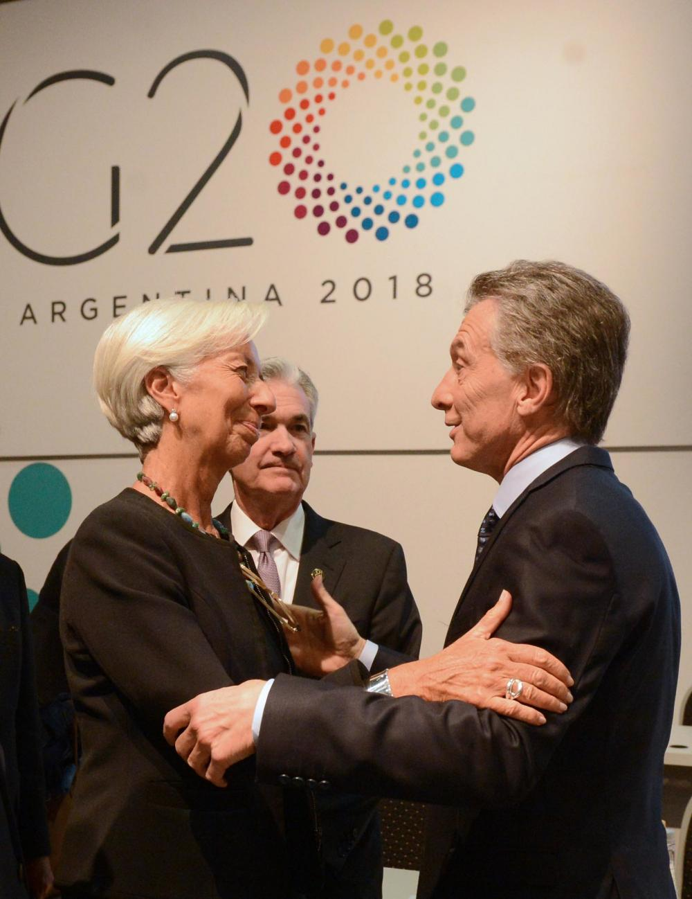 IMF Managing Director Christine Lagarde and Argentine President Mauricio Macri at the G20 summit in Argentina, 2018. CREDIT: G20 Argentina (CC BY 2.0)