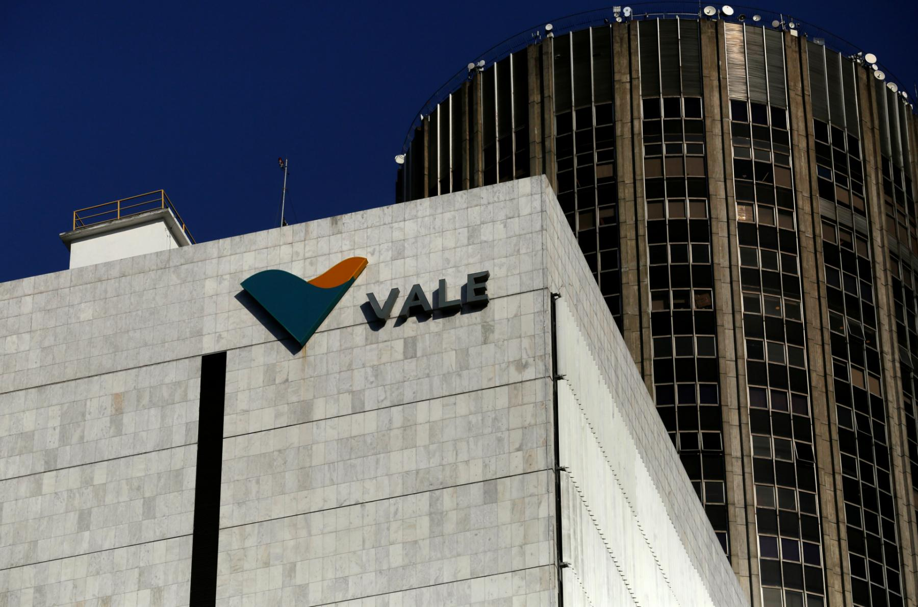 The company logo of Brazilian mining company Vale SA at its headquarters in downtown Rio de Janeiro August 20, 2014.  (Photo: REUTERS/Pilar Olivares/File Photo)