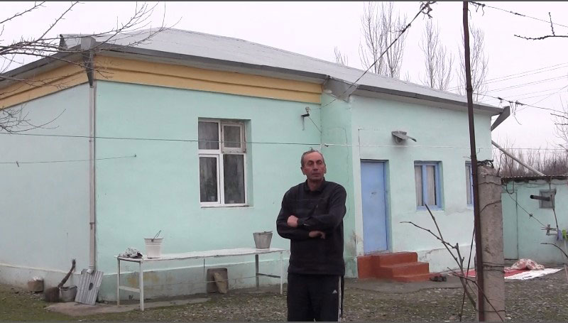 The modest house in which Tarikh Hajiyev lives.