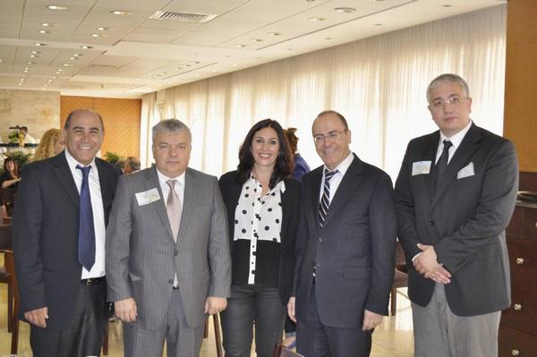 From left: Yahiel Hazan, Angel Antonov, Miri Regev, Silvan Shalom, Nikolai Krushkov