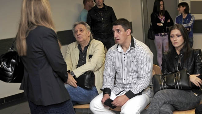 Kristijan with his wife in court.
