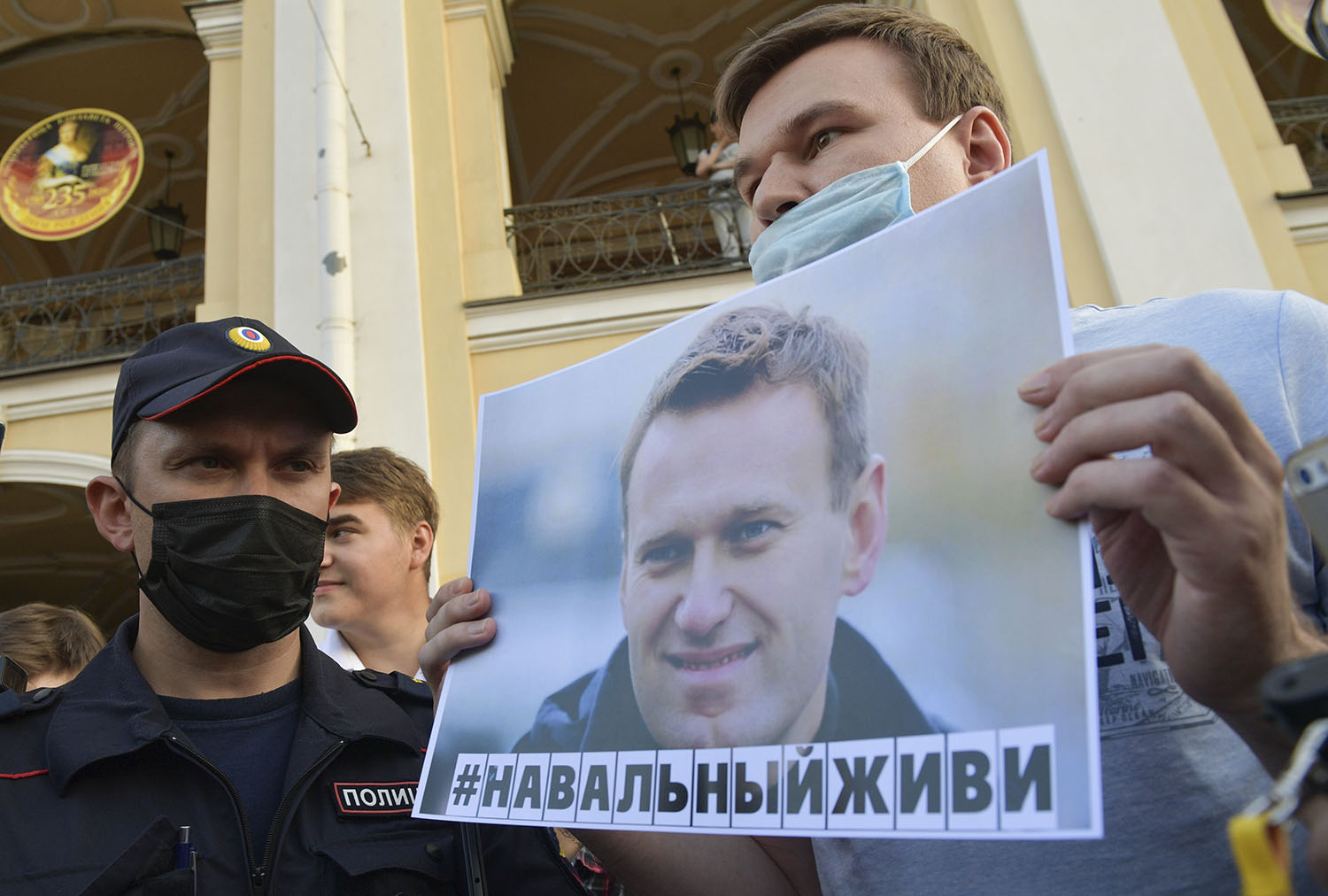 Navalny Poisoning Rally AP