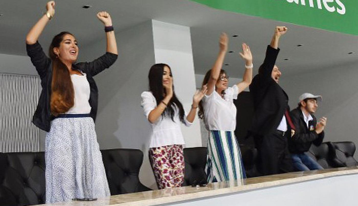 The First Family, cheering at the European Games