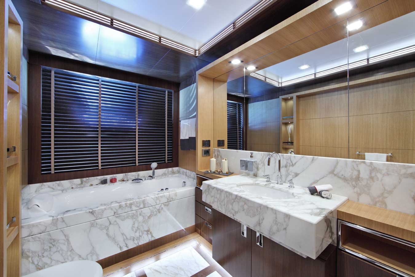 A marble bath aboard an ocean-going vessel? Why not?
