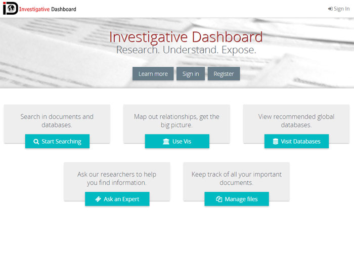 Investigative Dashboard