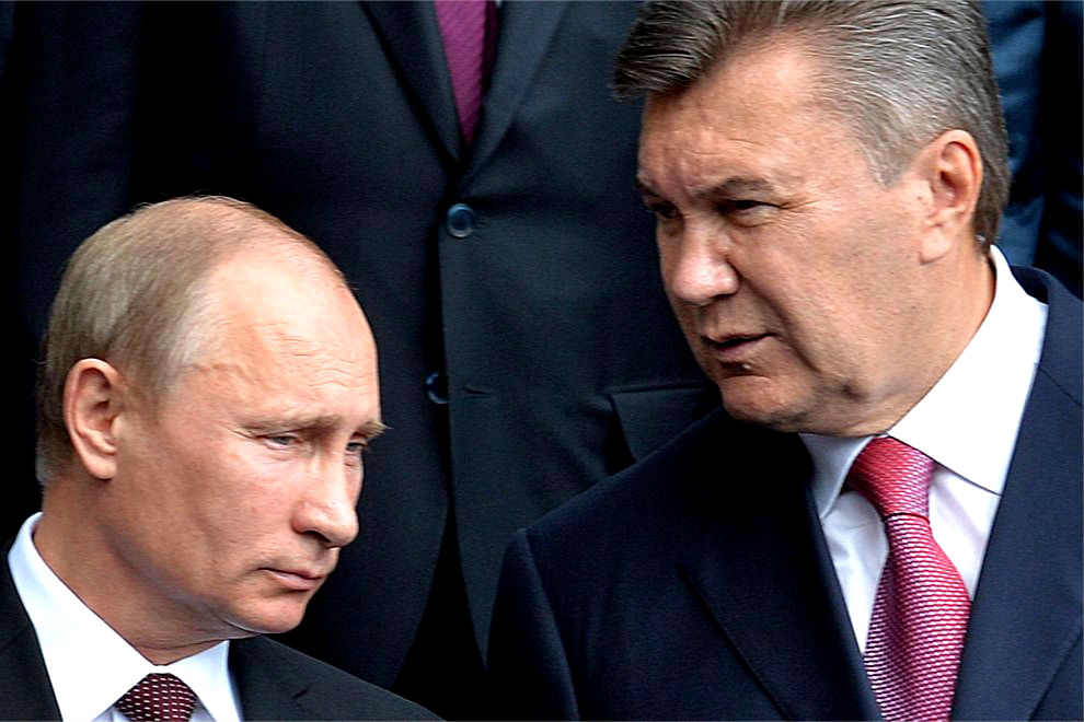 Viktor Yanukovych (right)